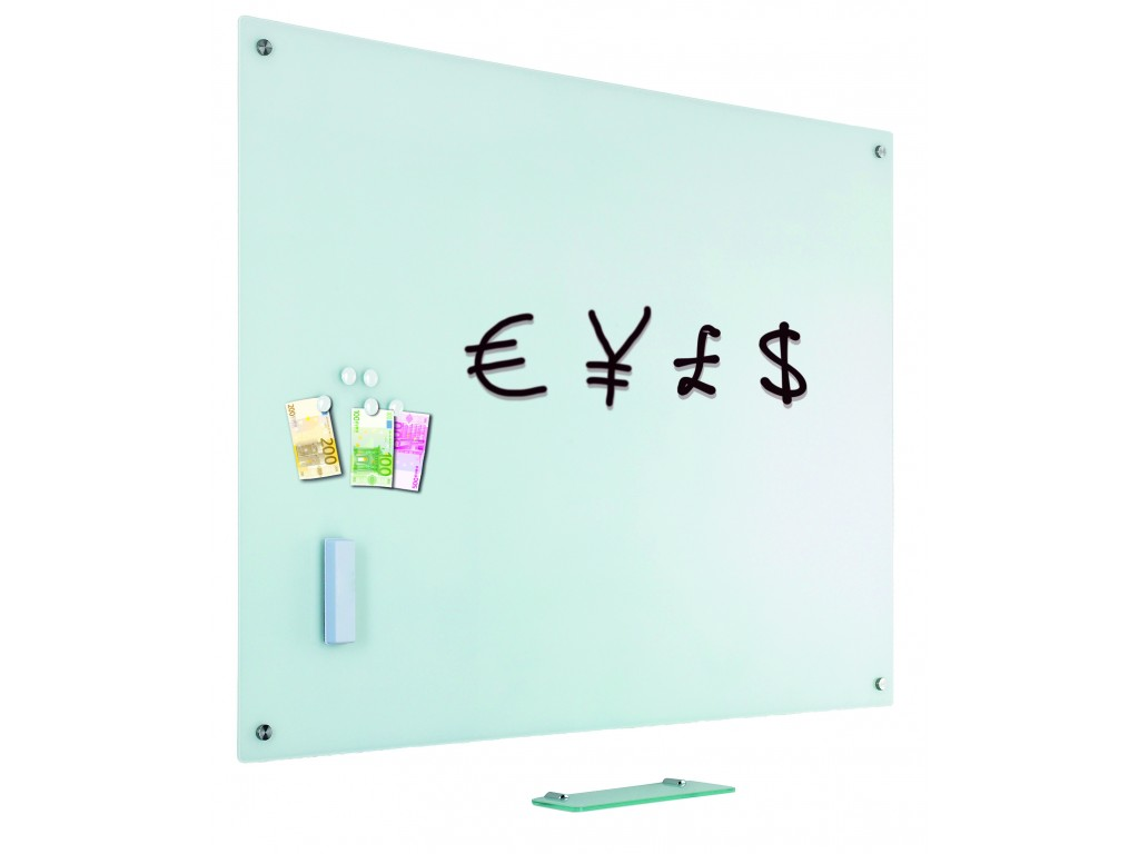 whiteboard glas mat wit 100x150cm compleet met gratis. Black Bedroom Furniture Sets. Home Design Ideas